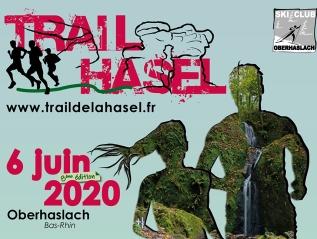 Affiche trail de la Hasel2020